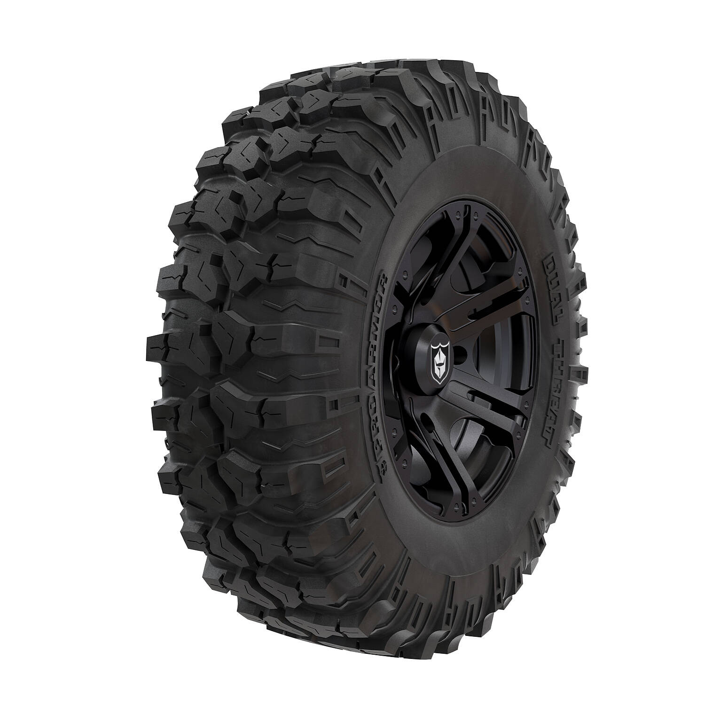 Pro Armor® Wheel & Tire Set: SIXR - Matte Black & Dual-Threat