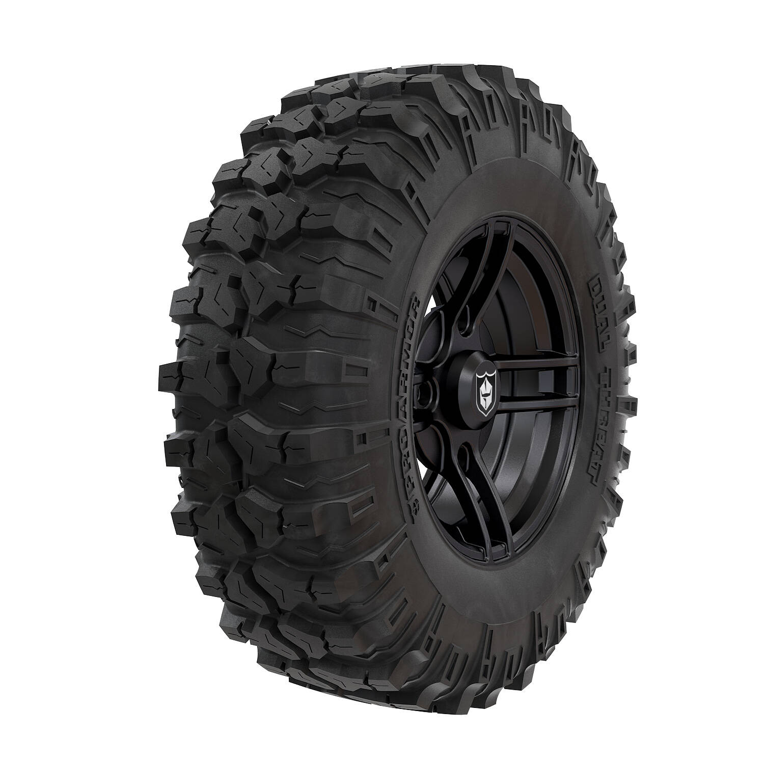 Wheel & Tire Set: Pro Armor® Split - Matte Black & Dual-Threat - 29""