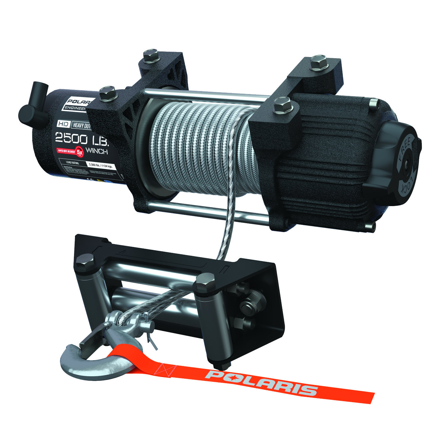 2,500 lb. Capacity Winch Kit with 50 ft. Steel Cable