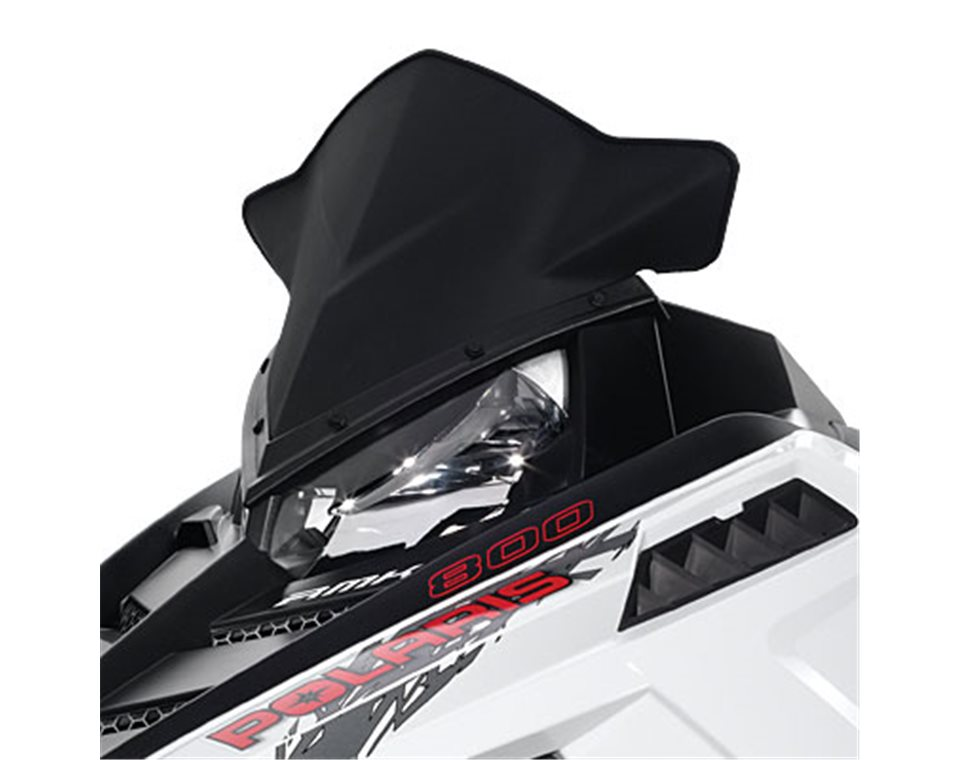 Snowmobile Low/Mid Windshield - Matte Black