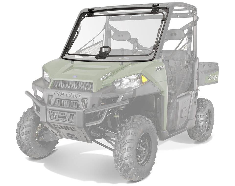 Lock & Ride® Full Tip-Out Windshield - Poly