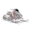 AXYS Snowmobile Low Windshield, Black - Image 1 de 3