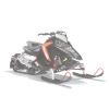 AXYS Snowmobile Low Windshield, White - Image 1 de 2