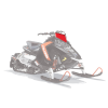 AXYS Snowmobile Low Windshield, Red - Image 1 de 2