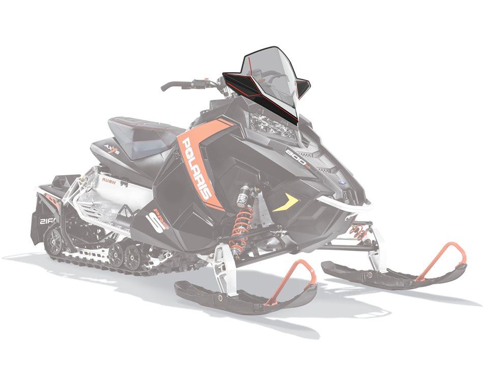 AXYS® Snowmobile Mid Windshield - Smoke