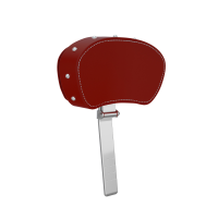 Genuine Leather Rider Backrest Pad - Red w/ Studs