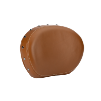 Genuine Leather Passenger Backrest Pad - Desert Tan With Studs