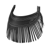 Genuine Leather Front Mud Flap With Fringe - Black - Image 1 of 1