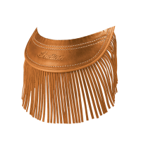 Genuine Leather Front Mud Flap With Fringe - Desert Tan