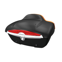 Quick-Release Lockable Trunk with Taillight, Thunder Black Smoke