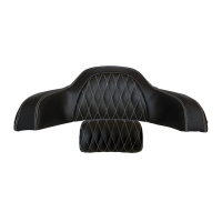 Genuine Leather Quilted Trunk Backrest Pad - Black
