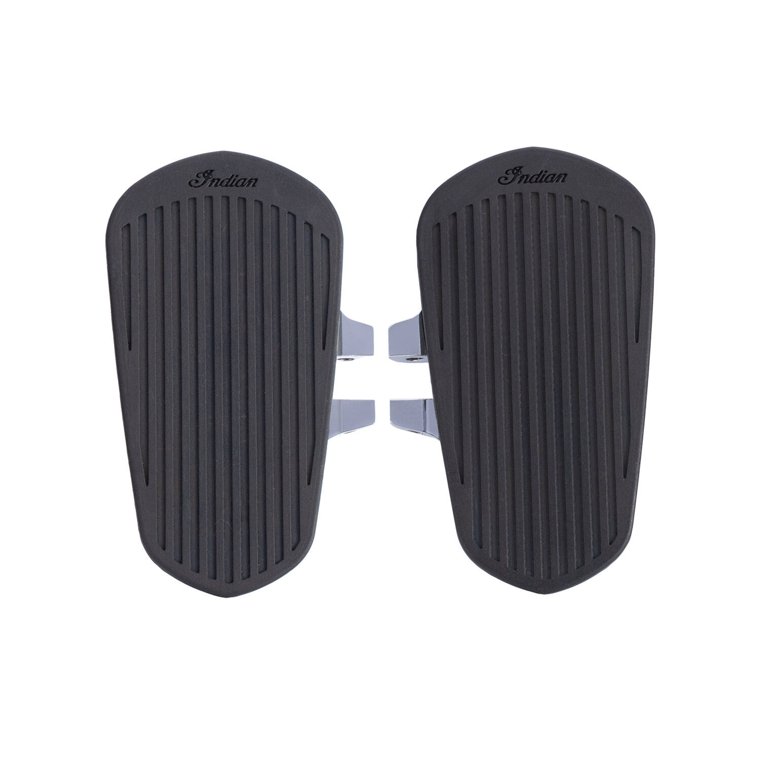 Passenger Floorboards with Pads in Chrome, Pair