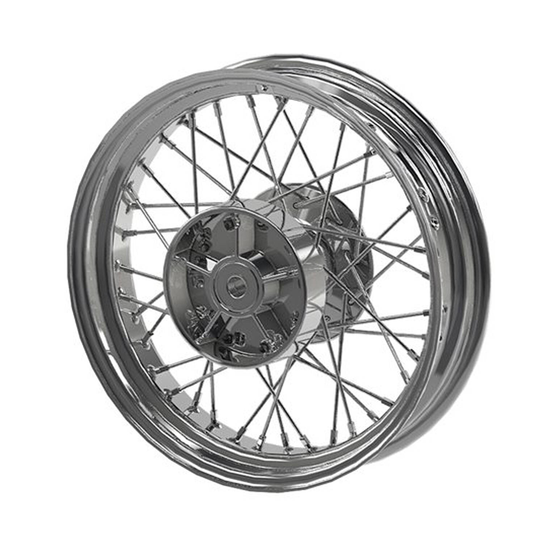 Rear Laced Wheel - Chrome