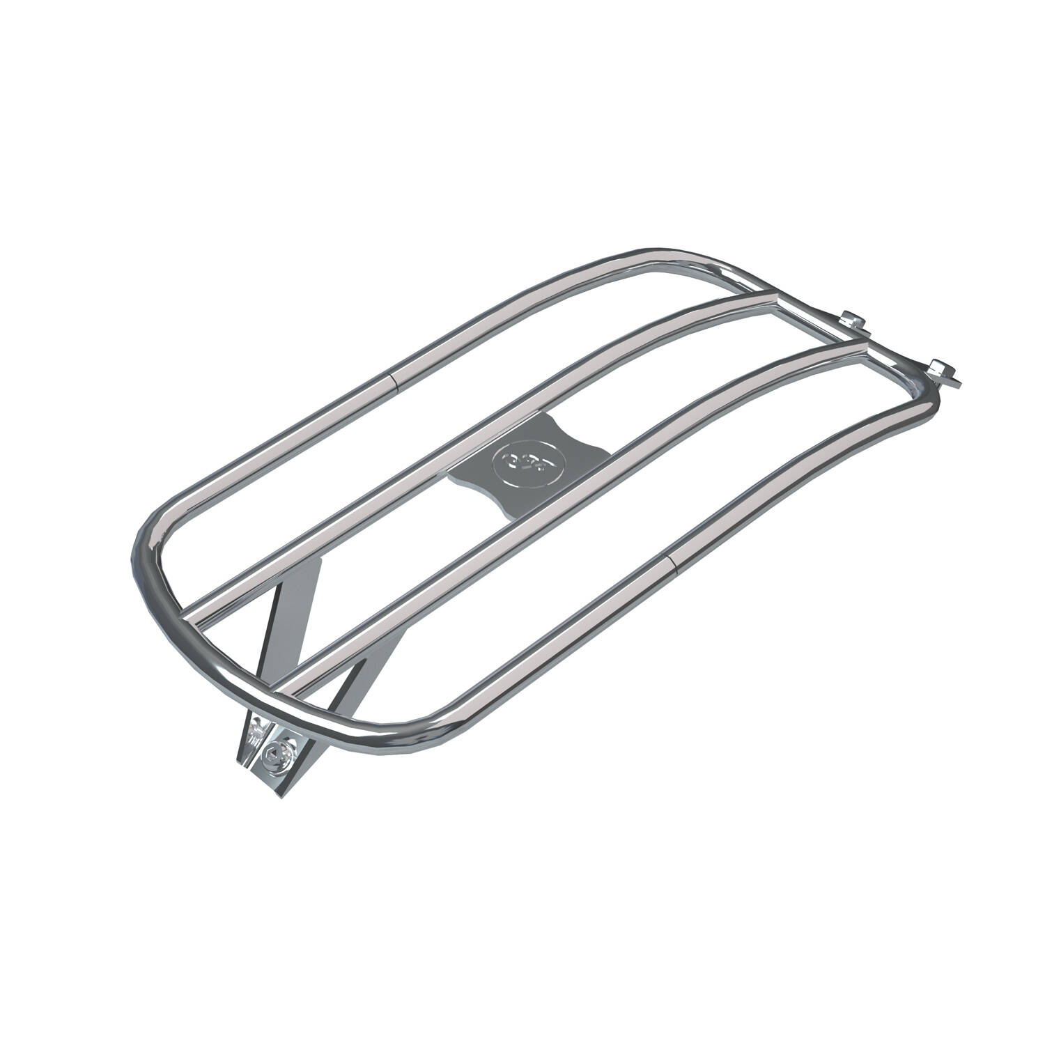Steel Rear Solo Luggage Rack, Chrome