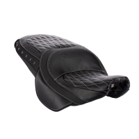 Genuine Leather Touring Heated Seat - Black