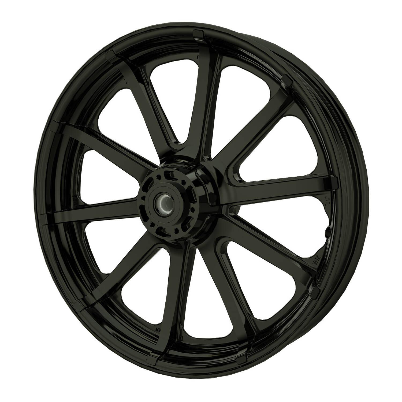 """19"""" 10-Spoke Front Wheel - Black"""