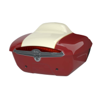 Quick Release Trunk - Indian Motorcycle Red over Ivory Creme