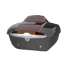 Quick-Release Lockable Trunk with Taillight, Steel Gray over Burgundy Metallic - Image 1 of 1