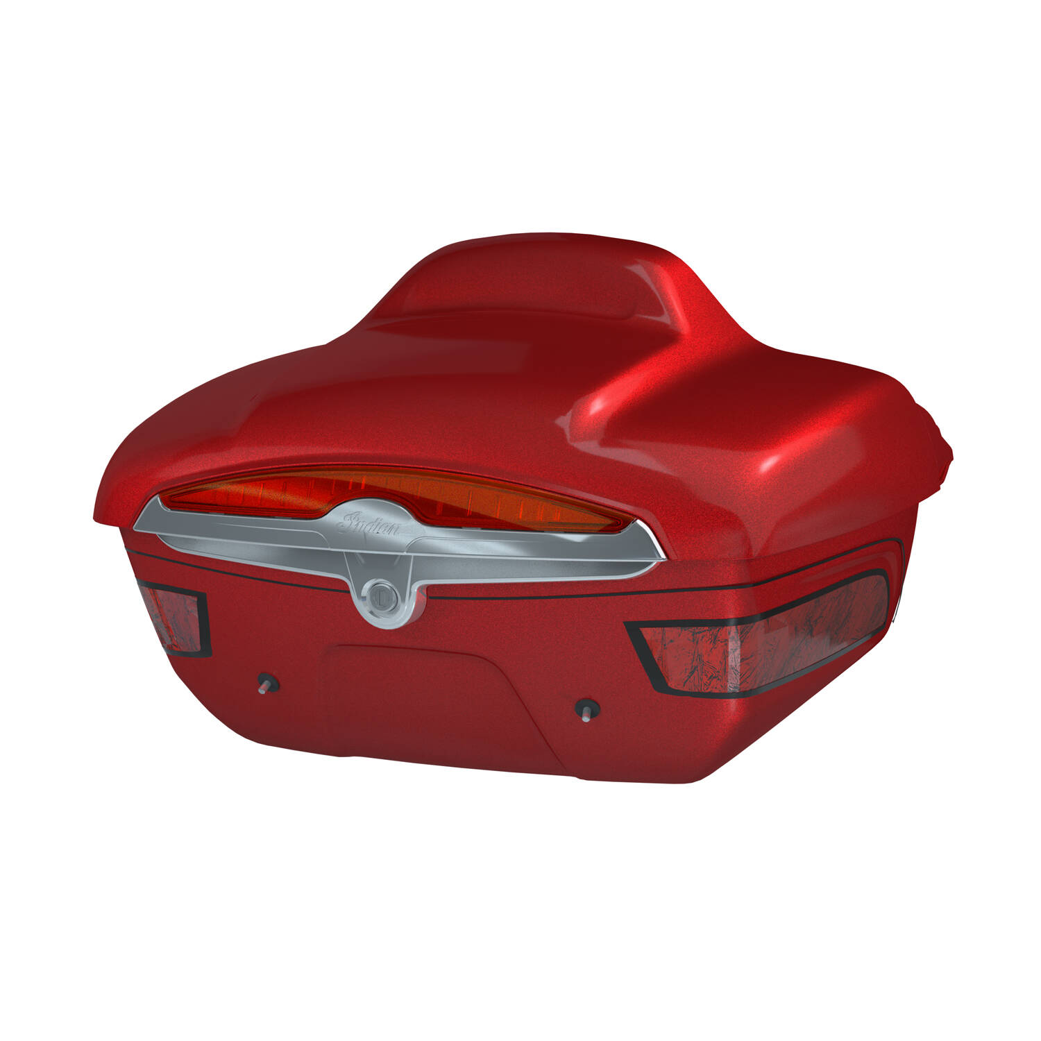 Quick-Release Lockable Trunk with Taillight, Red Candy