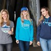 Women's Retro Hoodie with Logo, Navy - Image 4 of 6