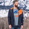 Men's Full-Zip Hoodie Sweatshirt with Polaris Logo, Navy - Image 3 of 4