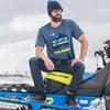 Men's Short-Sleeve Exhaust Graphic Tee with Logo, Navy Heather - Image 2 de 2