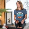 Women's Short-Sleeve Hex Graphic Tee with Logo, Navy Frost - Image 2 of 2