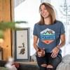 Women's Short-Sleeve Hex Graphic Tee with Logo, Navy Frost - Image 2 de 2
