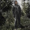Unisex Full-Zip Packable Waterproof Jacket with Removable Hood, Gray - Image 2 of 3