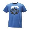 Men's Badge Graphic T-Shirt with Polaris® Logo, Royal Heather - Image 1 de 1