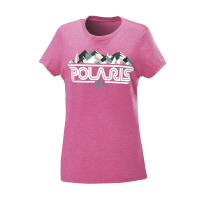 Women's Short-Sleeve Mountain Graphic Tee with Polaris® Logo, Pink