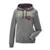 Women's Retro Hoodie Sweatshirt with Polaris® Logo, Gray - Image 1 of 3