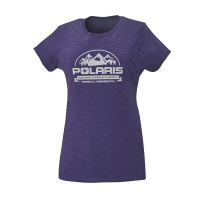 Women's Short-Sleeve Roseau Graphic Tee with Polaris® Logo, Purple Frost