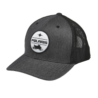 Men's Adjustable Mesh Snapback Hat with Polaris® Snow Patch, Gray/Black