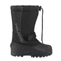 Youth Snowmobiling Boot with Lace Lock System, Black