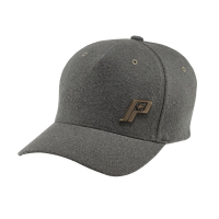 Unisex (S/M) Flexfit Hat with Retro Logo, Gray