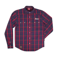 Men's Plaid Flannel Shirt, Red/Blue