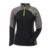 Women's Long-Sleeve Quarter-Zip Pullover with Lime Polaris® Logo, Black/Gray - Image 1 of 2