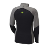 Women's Long-Sleeve Quarter-Zip Pullover with Lime Polaris® Logo, Black/Gray - Image 2 of 2