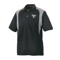 Men's Short-Sleeve Mesh Moisture Wicking Polo with Slingshot® Logo, Black