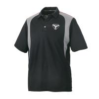 Men's Short-Sleeve Mesh Moisture Wicking Polo with Slingshot® Logo, Black