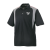 Men's Short-Sleeve Mesh Moisture Wicking Polo with Slingshot® Logo, Black - Image 1 of 2