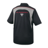 Men's Short-Sleeve Mesh Moisture Wicking Polo with Slingshot® Logo, Black - Image 2 of 2