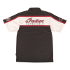 Men's Short-Sleeve Bowling Style Color Block Shirt, Black/White - Image 2 of 4