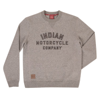 Men's Crew Sweatshirt with Printed Logo, Gray