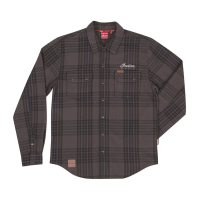 Men's Long-Sleeve Heavy Plaid Shirt, Gray