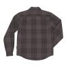 Men's Long-Sleeve Heavy Plaid Shirt, Gray - Image 2 of 4