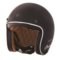 Open Face Retro ABS Helmet, Black