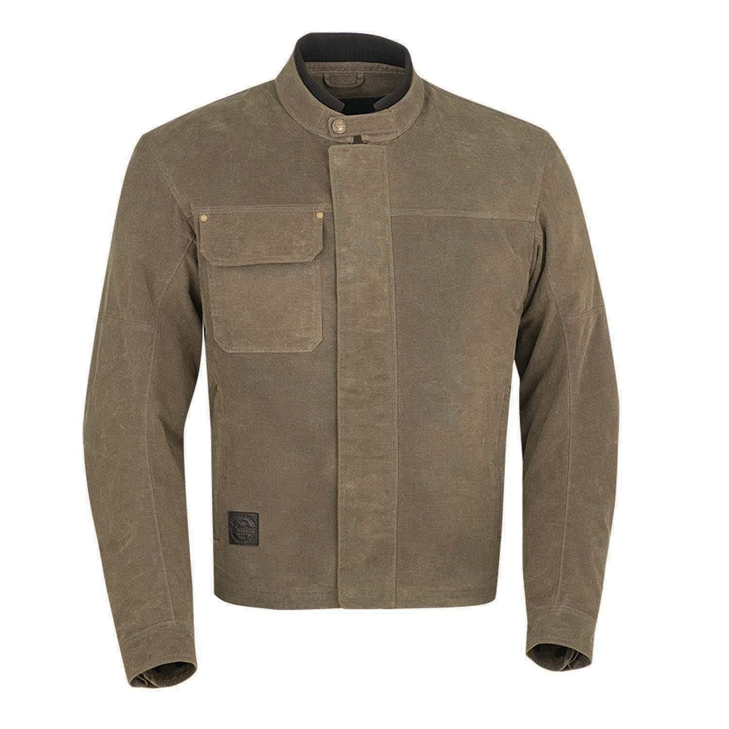 miniature 8 - Indian Motorcycle Men's Waxed Cotton Riding Jacket, Olive