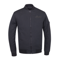 Men's Casual Bomber Jacket, Black
